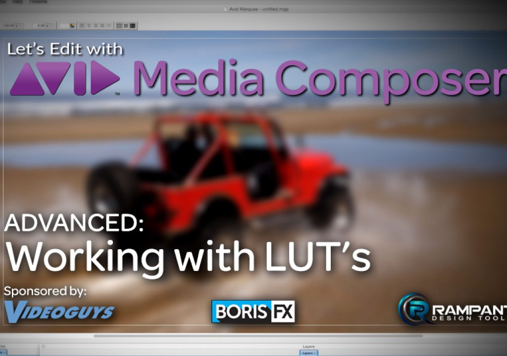 Let's Edit with Media Composer - ADVANCED - Working with LUT's 1