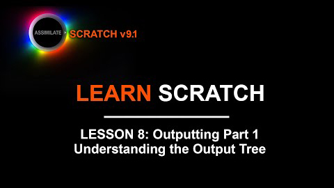 Learn Scratch Lesson 8 Outputting Part 1