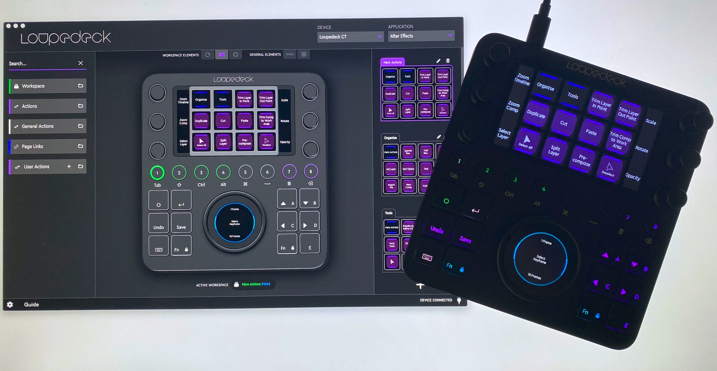 Loupedeck After Effects with software