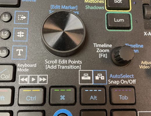 Custom video editing overlays for the Loupedeck+ control surface 38