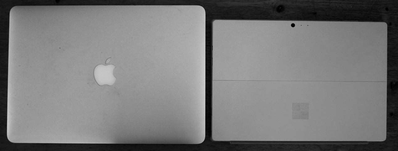 MBAir 13 and Surface Pro 4