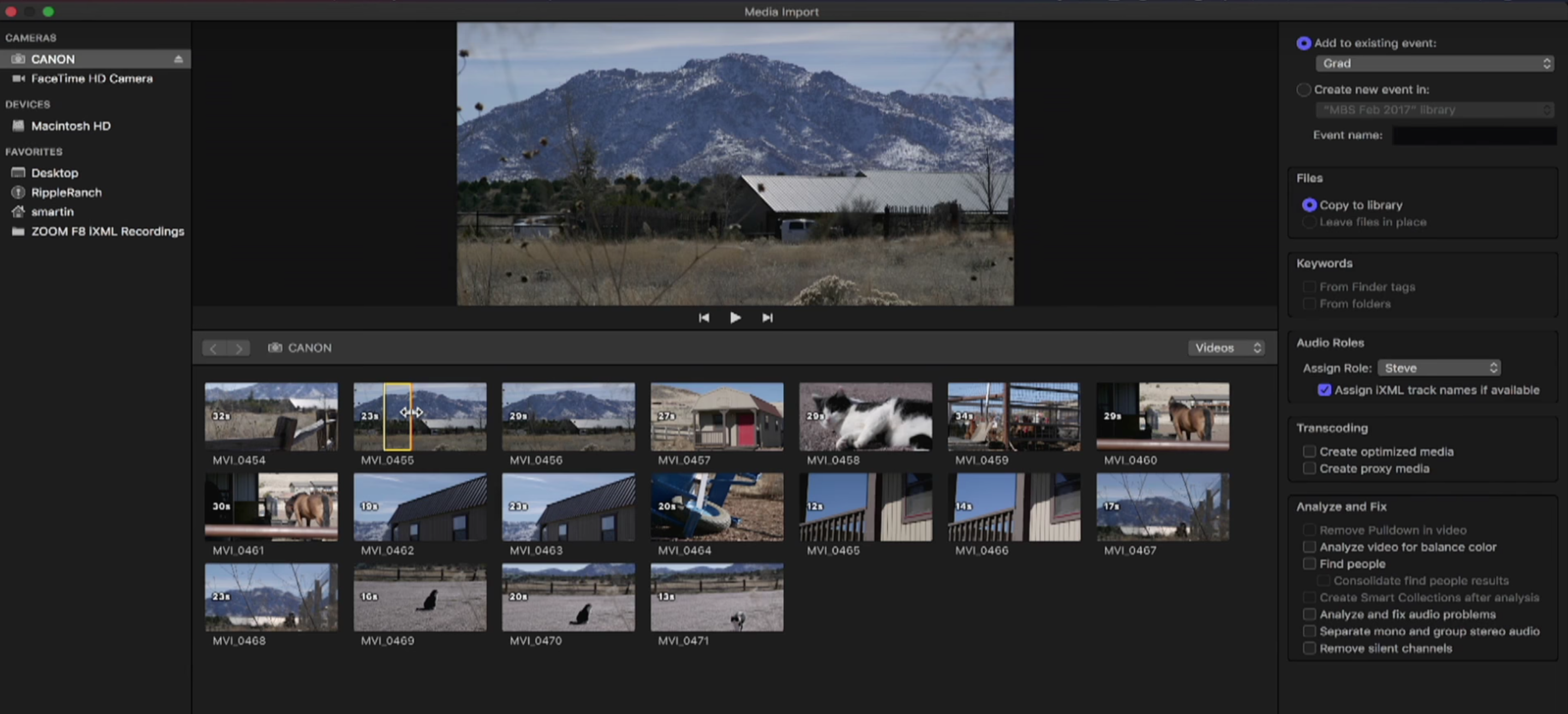 Creating custom camera archives in Final Cut Pro X