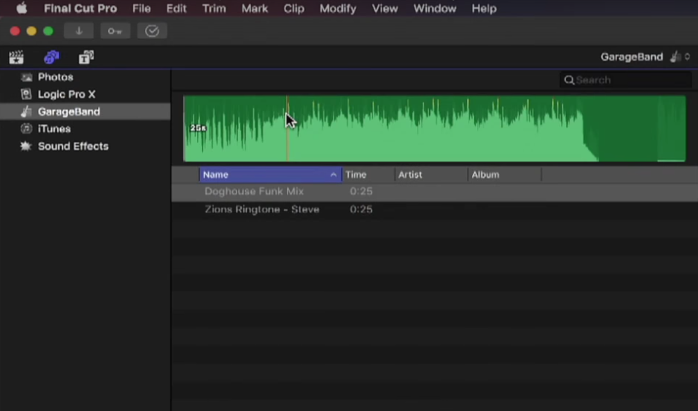 Publishing Music to Final Cut Pro X by Mark Spencer