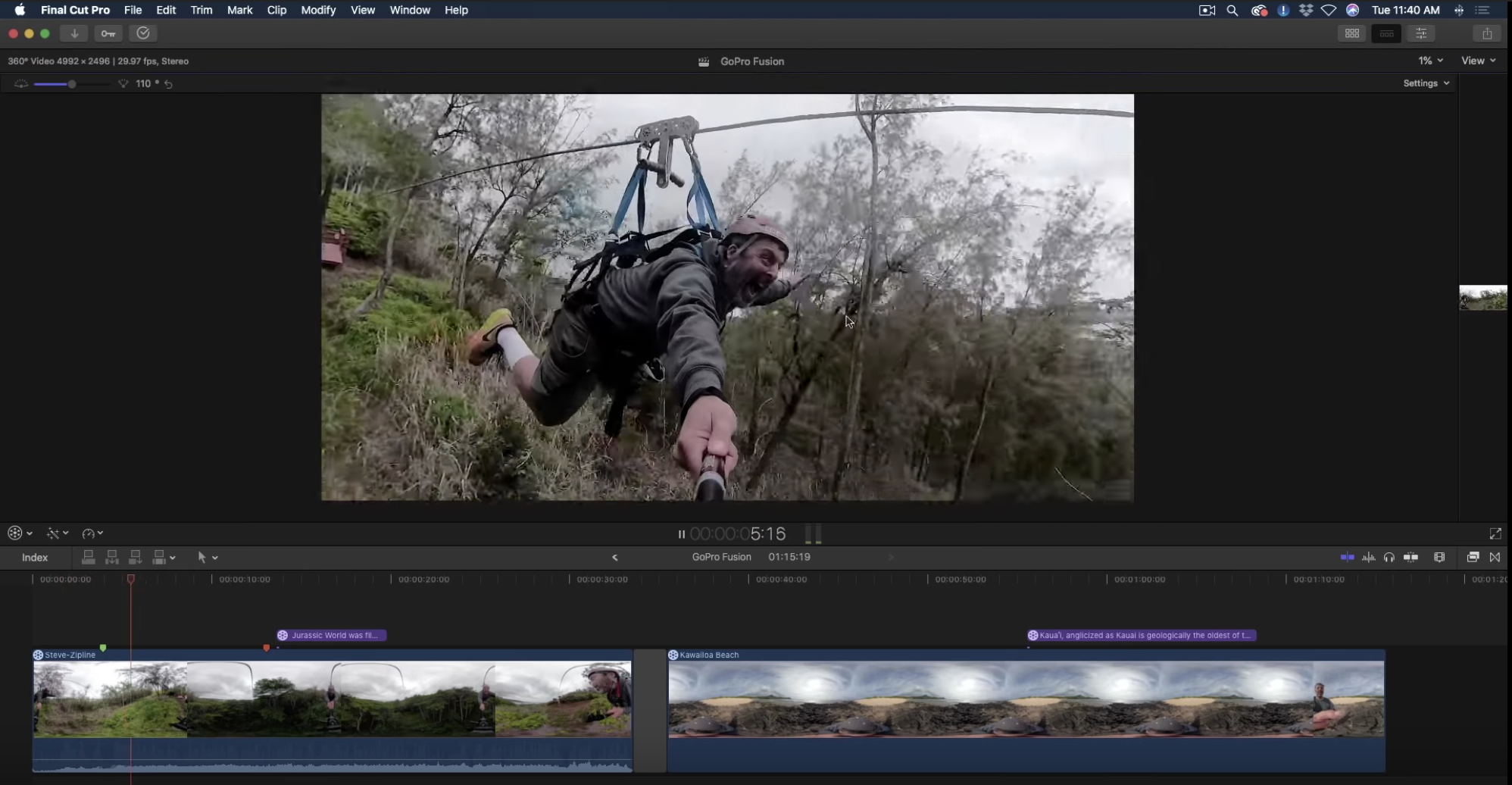 GoPro Fusion & Final Cut Pro X by Mark Spencer - ProVideo