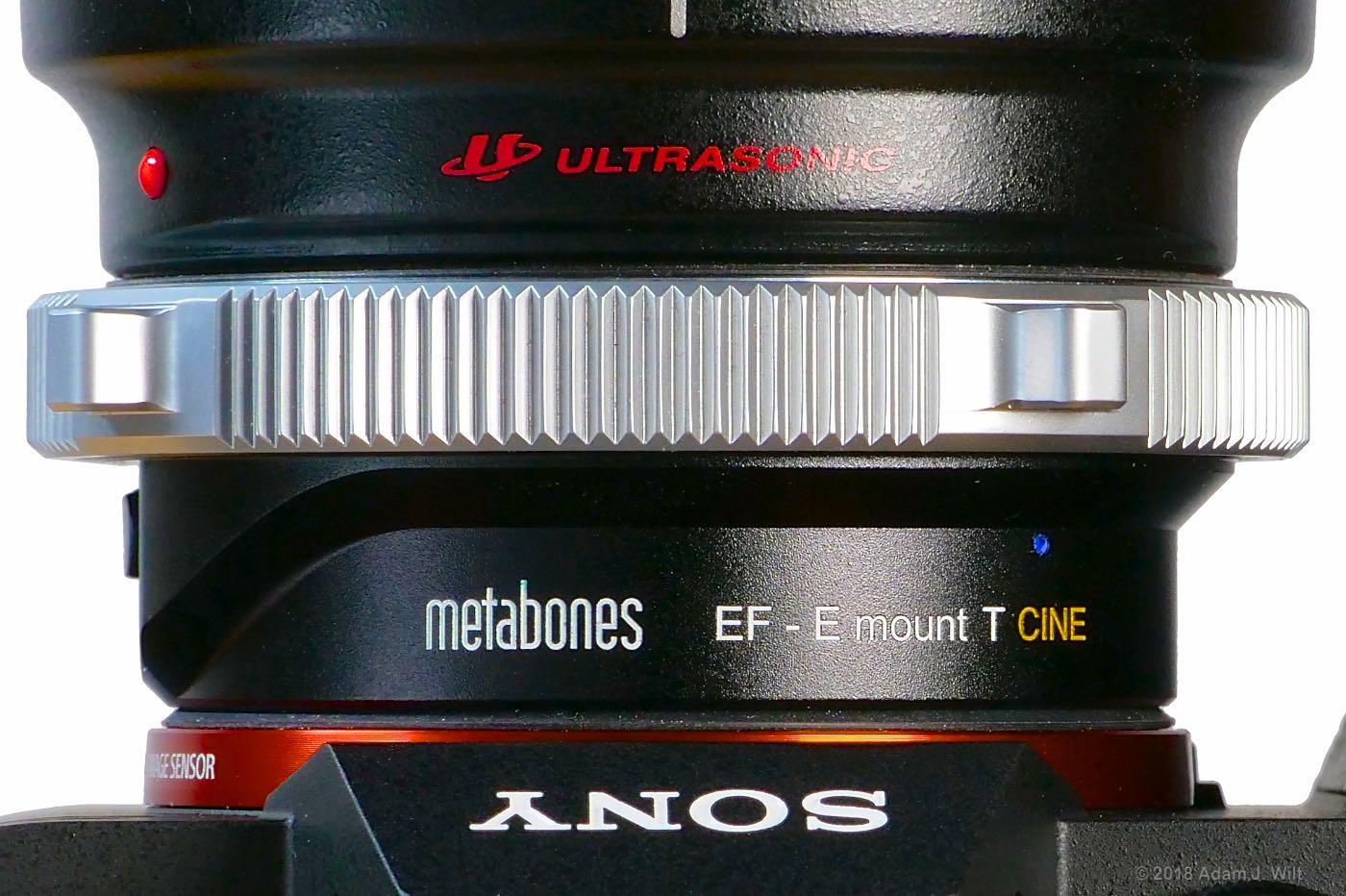 Metabones Ef to E mount T CINE adapter