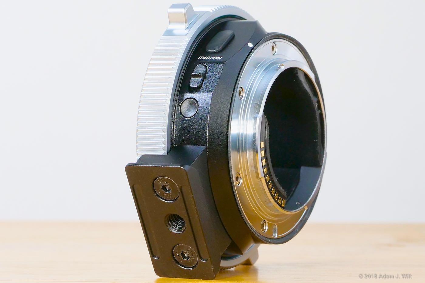 CINE adapter underside