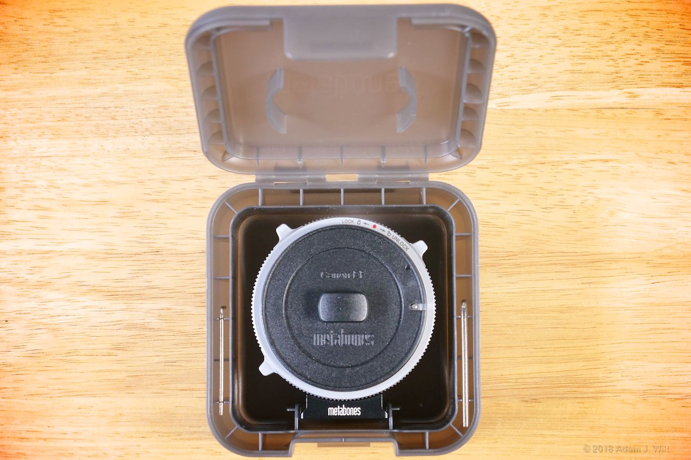 CINE adapter in its case