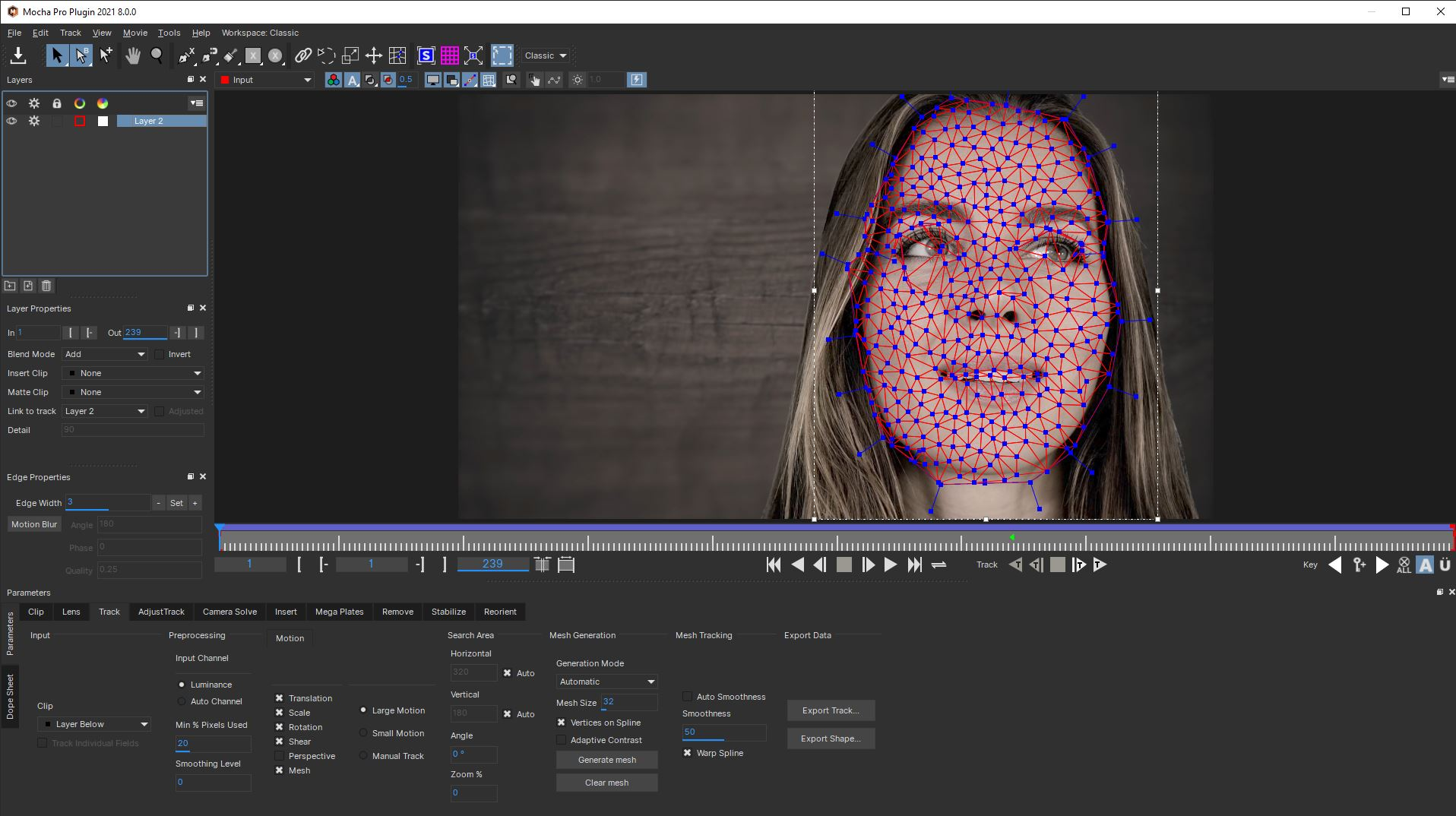 Aging an actor with Adobe Sensei and Mocha Pro 2021 16