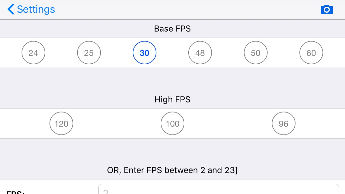 MoviePro for iOS: How to set 180-degree shutter, framerate and more 20