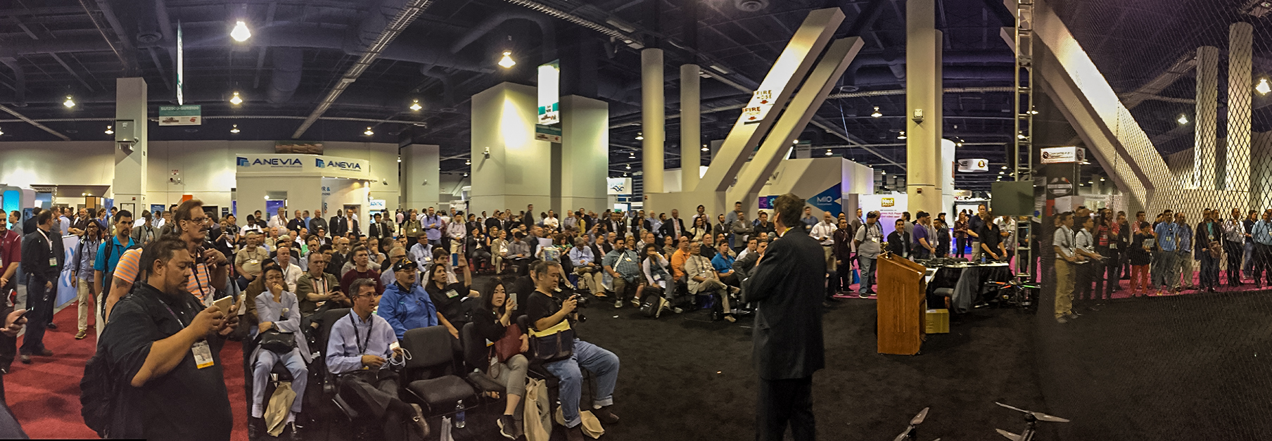 NAB Show Aerial Robotics & Drone Pavilion demos draw huge crowds!