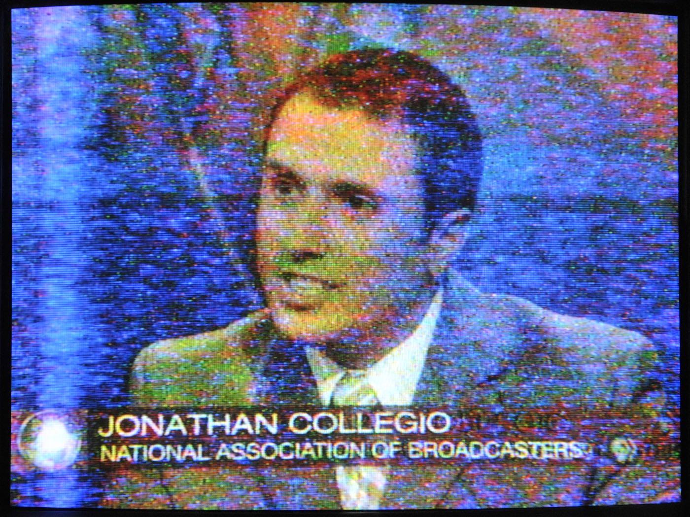 Off-air shot of PBS News Hour, June 12 2009