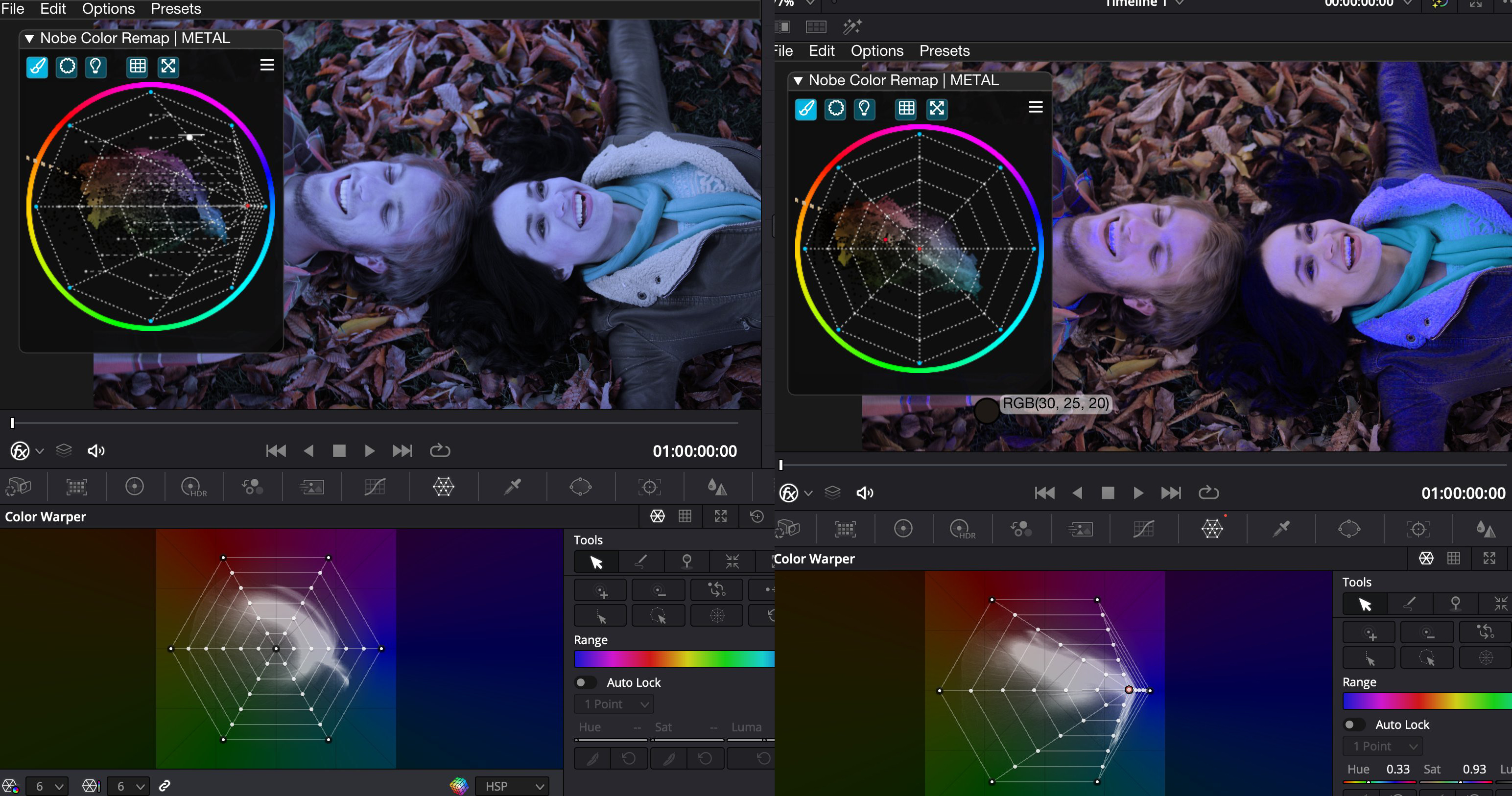 Nobe Color Remap for all your post-production tools. The original Color Warper 4