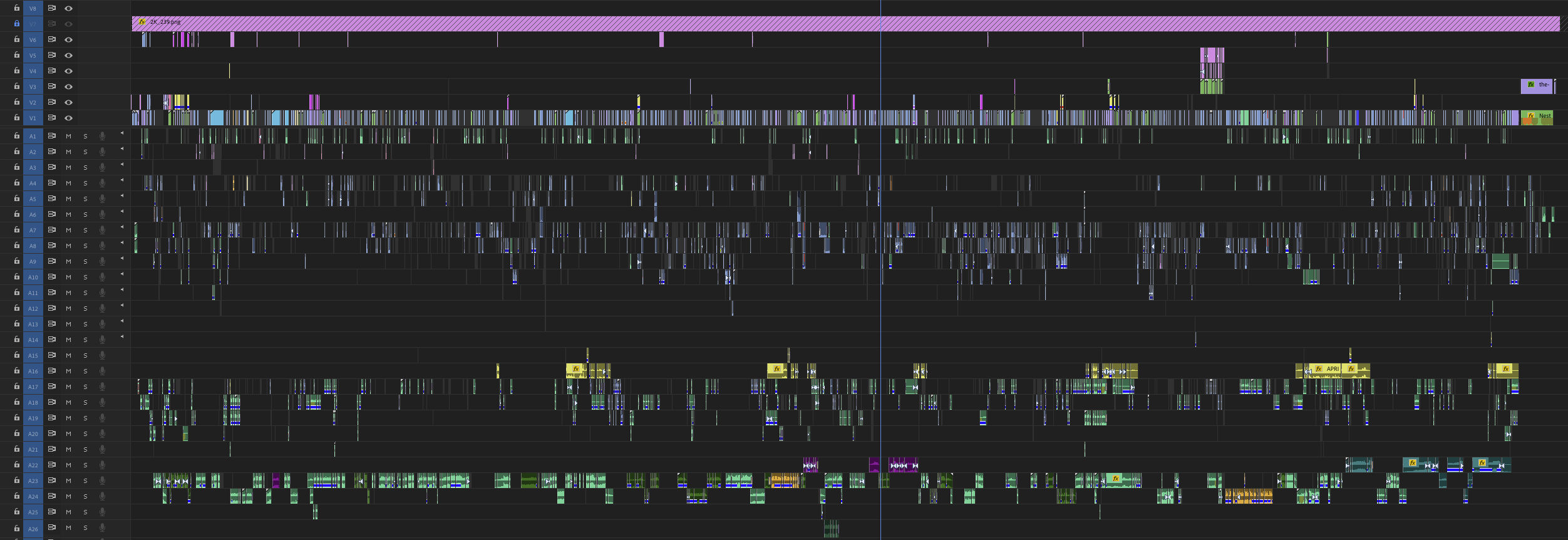 Amy Overbeck's Adobe Premiere Pro timeline screenshot.