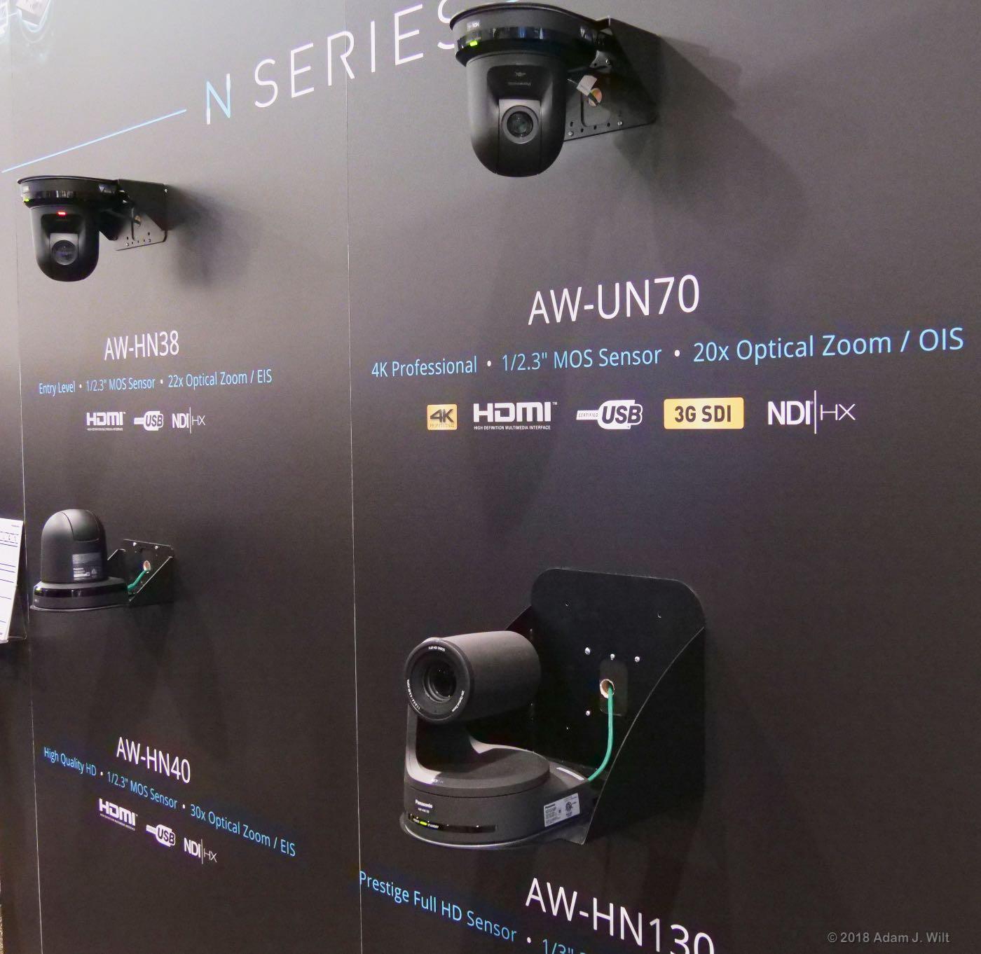 Panasonic NDI PTZ cameras