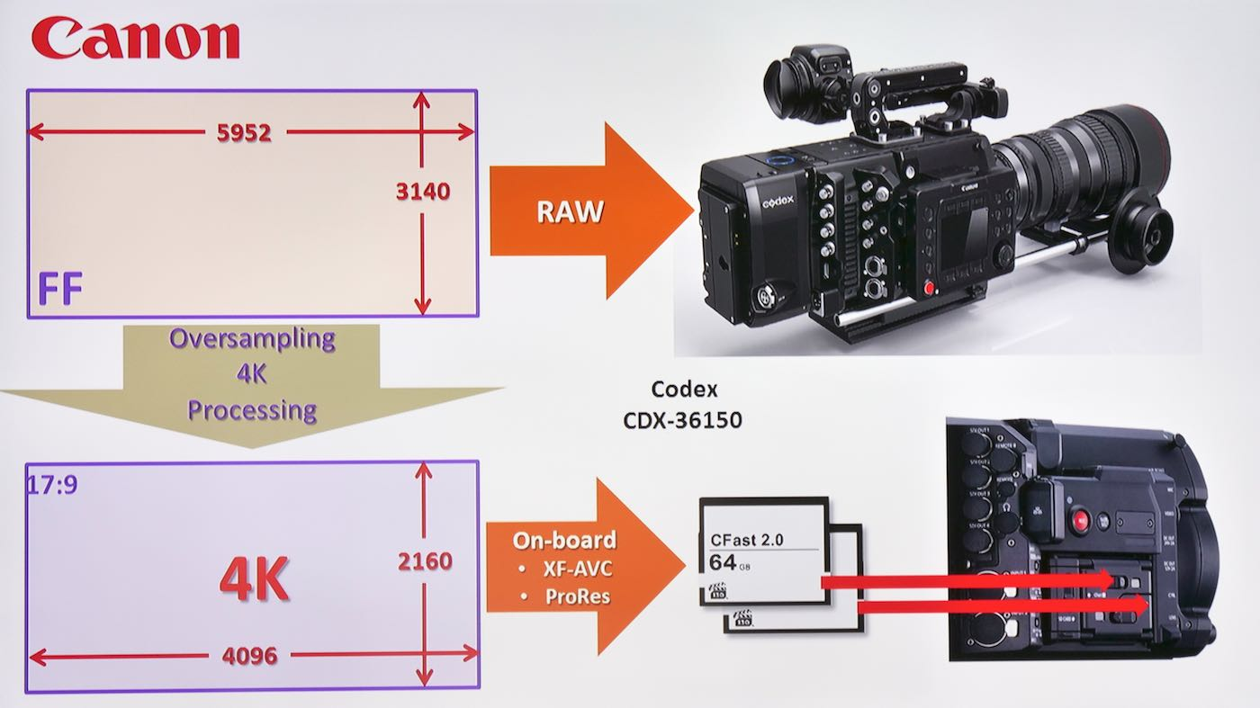 Capture 5.9K raw to a Codex recorder and also save 4K files to CFast cards