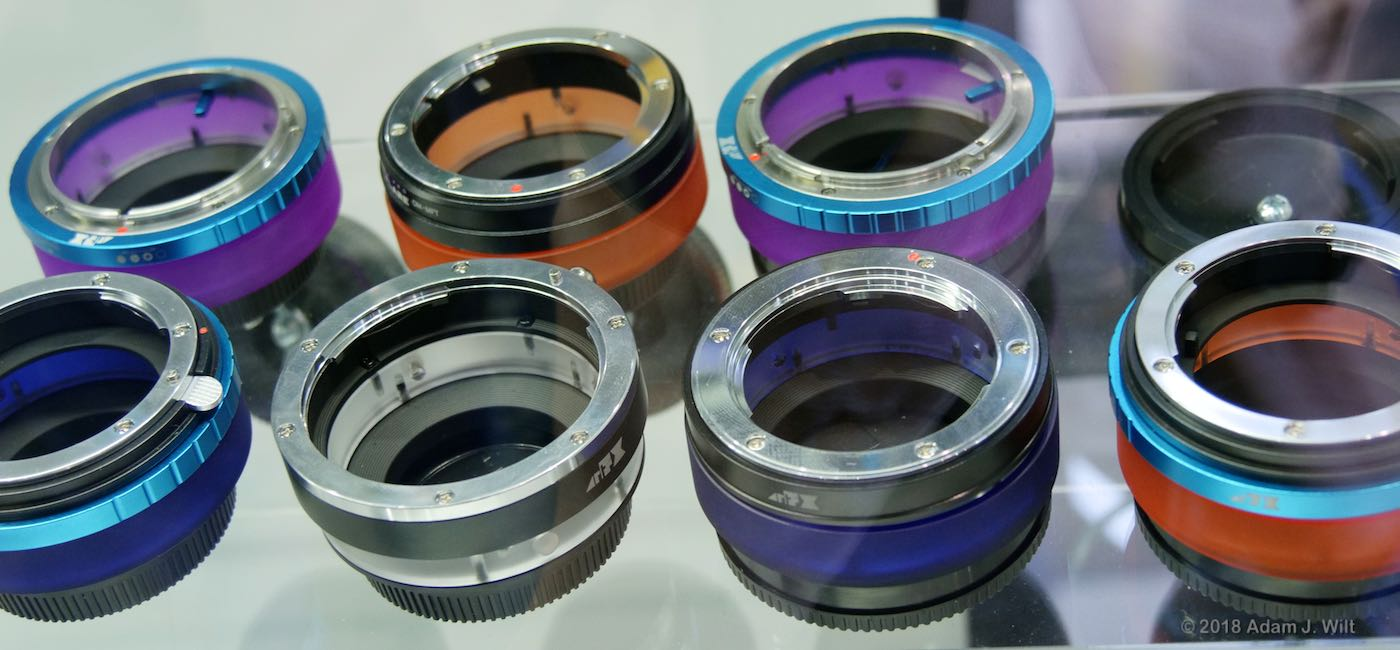 Fotodiox ArtFX ColorFlare EF lens adapters