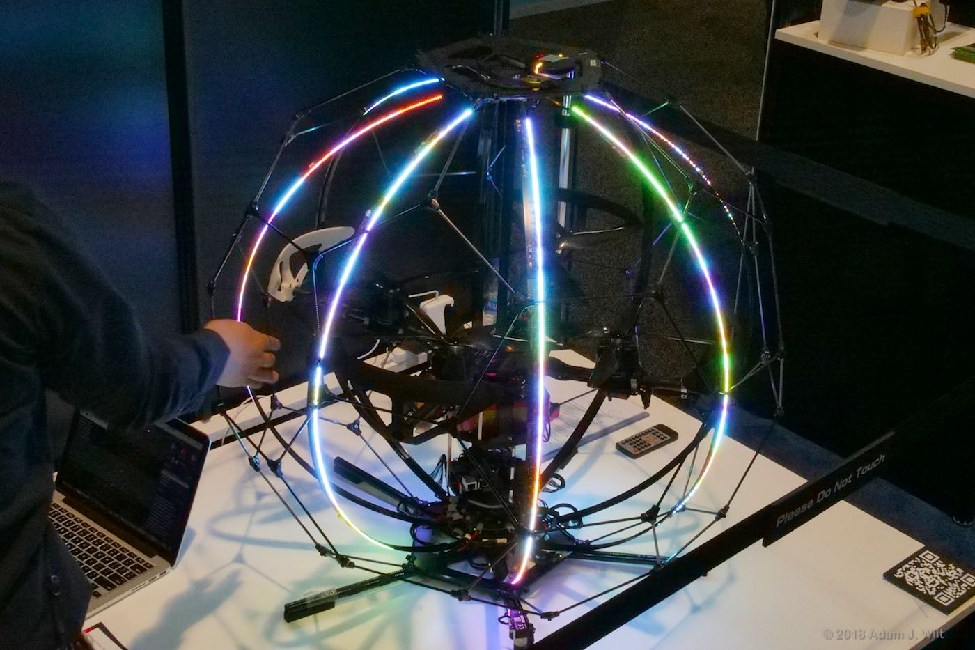 Spherical Drone Display with light bars at rest