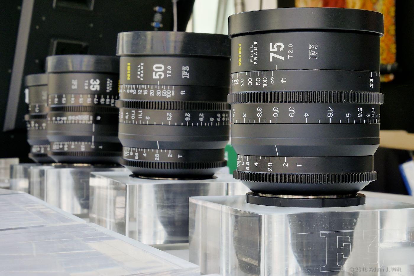 NiSi F3 lenses