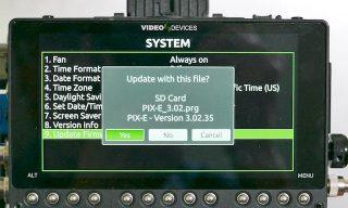 PIX-E firmware update 3.02