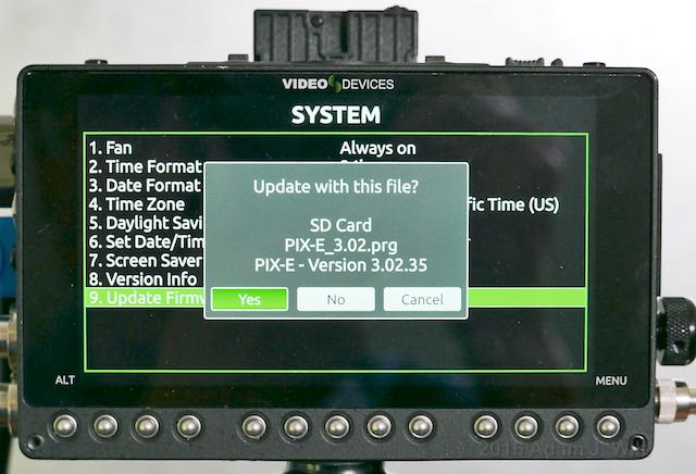 PIX-E5 loading firmware 3.02