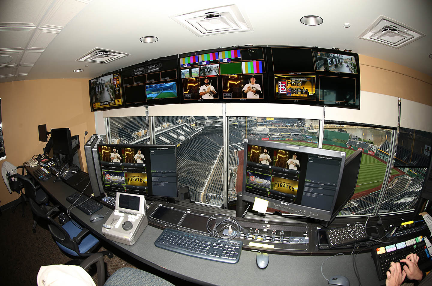 PNC Park control room July 2015