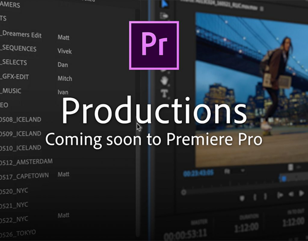 Adobe announces Productions: Premiere team projects for all 3