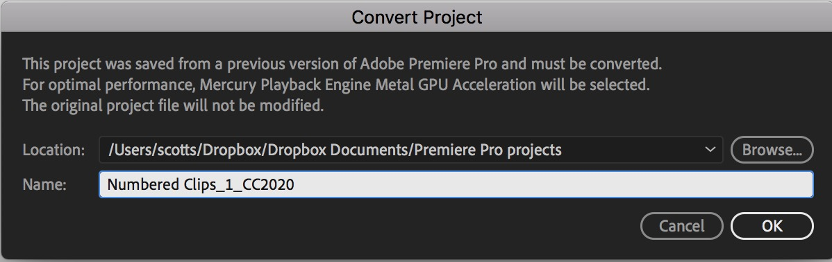 Careful updating to Adobe Premiere Pro 2020 and keeping your older Premiere versions installed 33