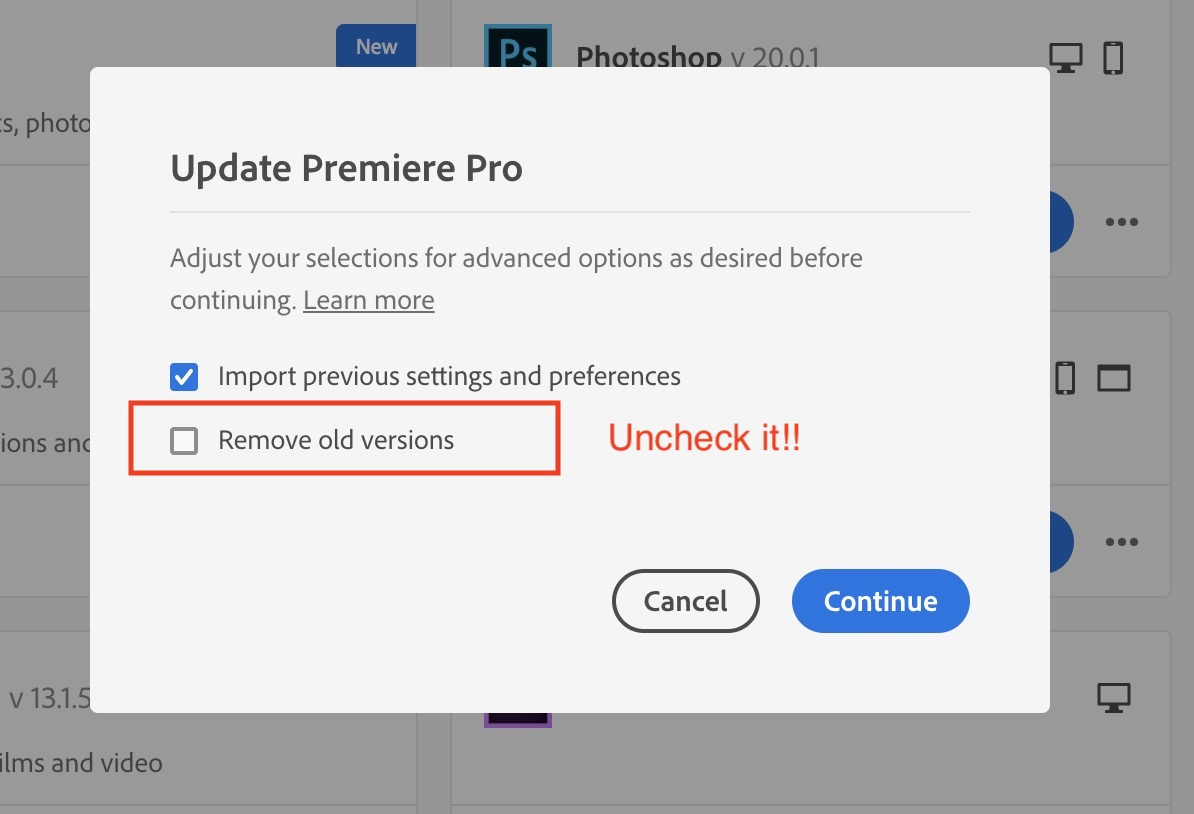 Careful updating to Adobe Premiere Pro 2020 and keeping your older Premiere versions installed 28