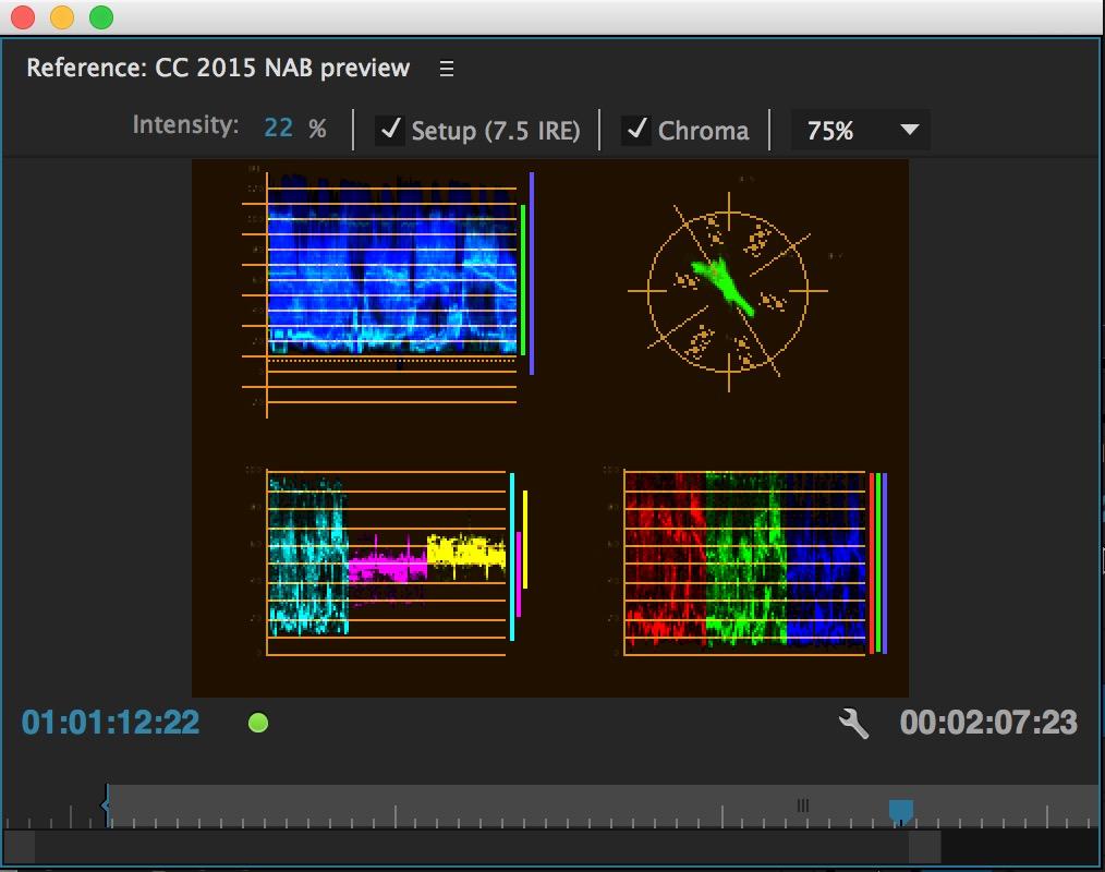 PPro NAB2015 reference monitor scopes