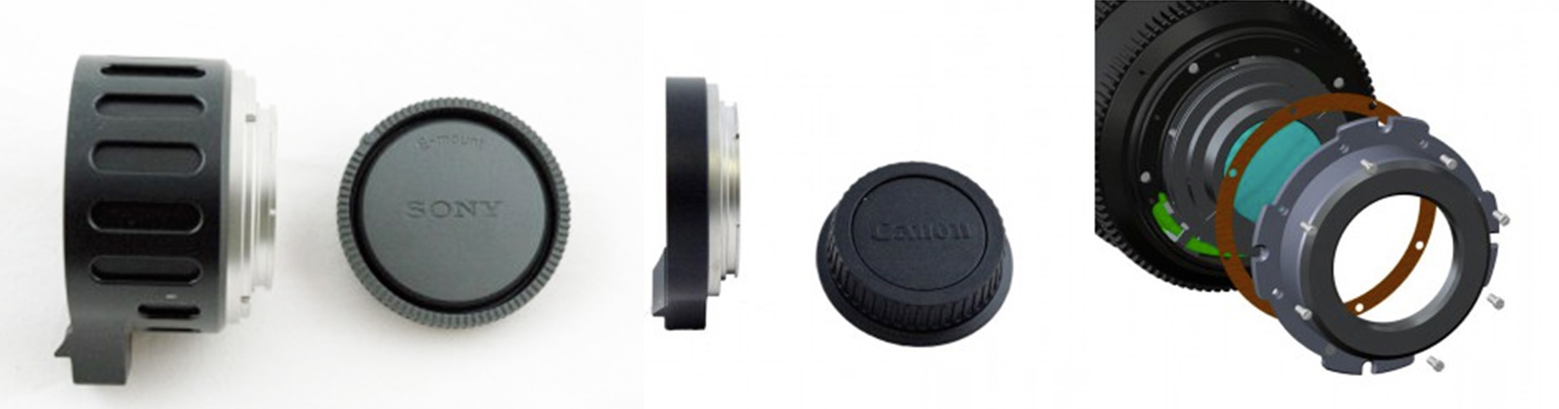 PS Technik Zoom lens mount options
