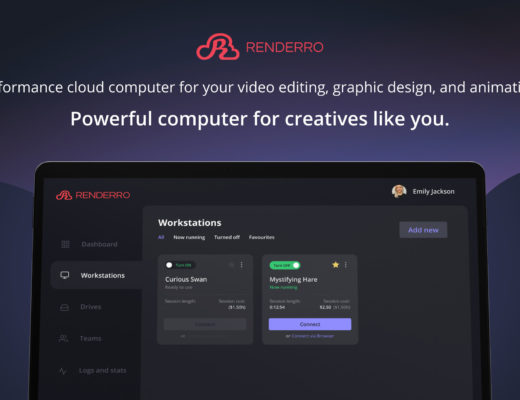 Renderro - powerful cloud computer for your post-production and creative tasks 30