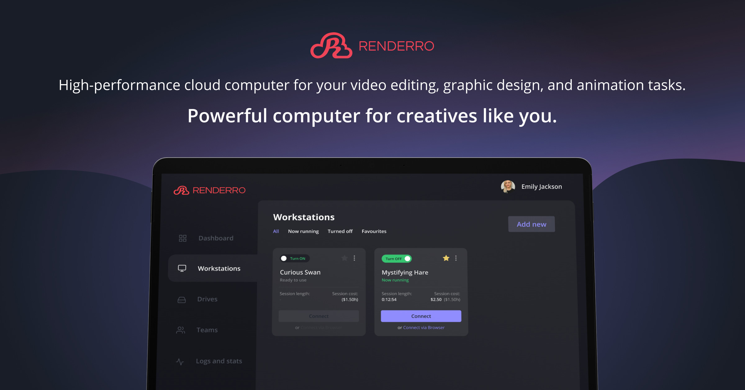 Renderro - powerful cloud computer for your post-production and creative tasks 8