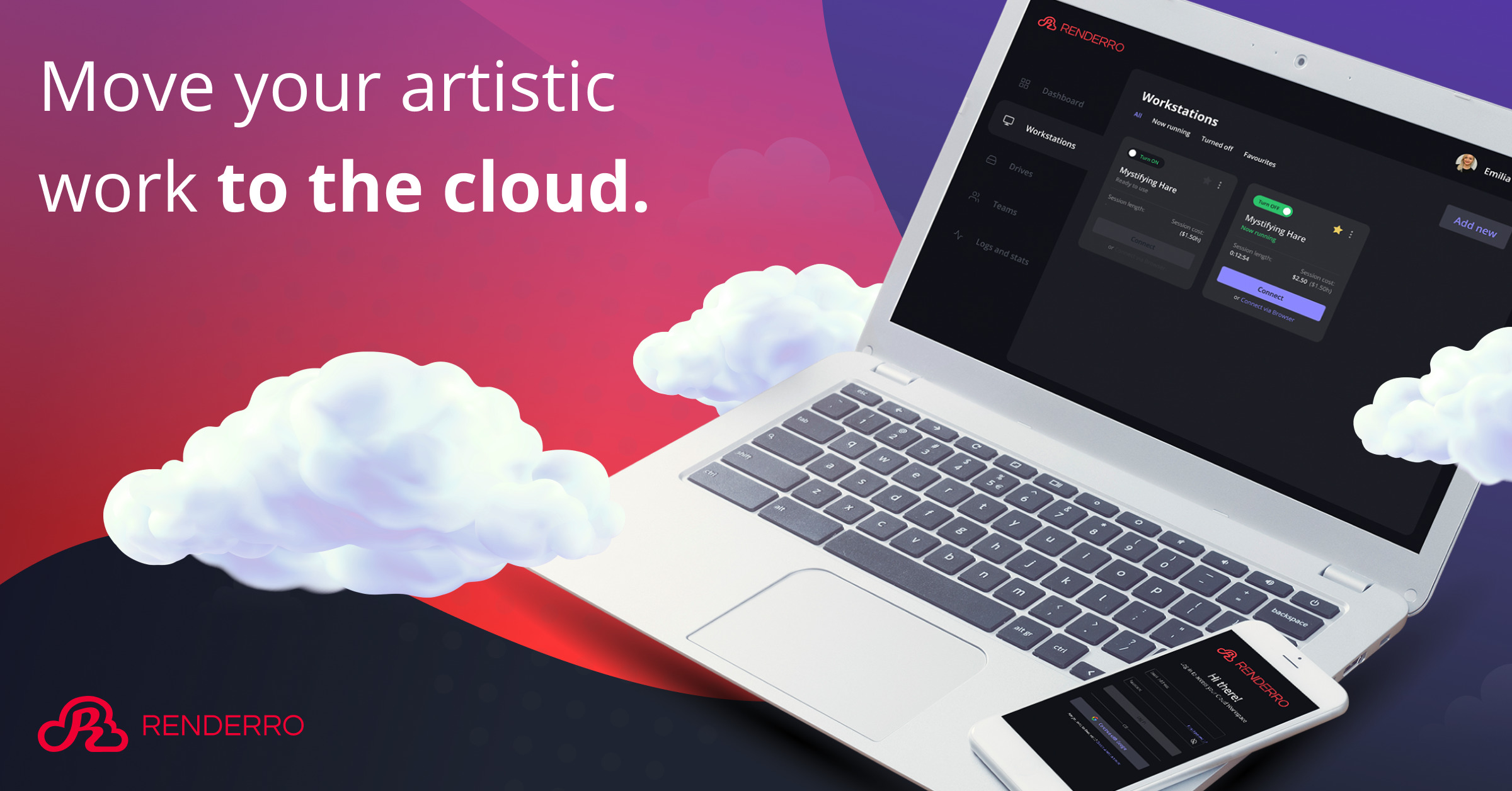 Renderro - powerful cloud computer for your post-production and creative tasks 9