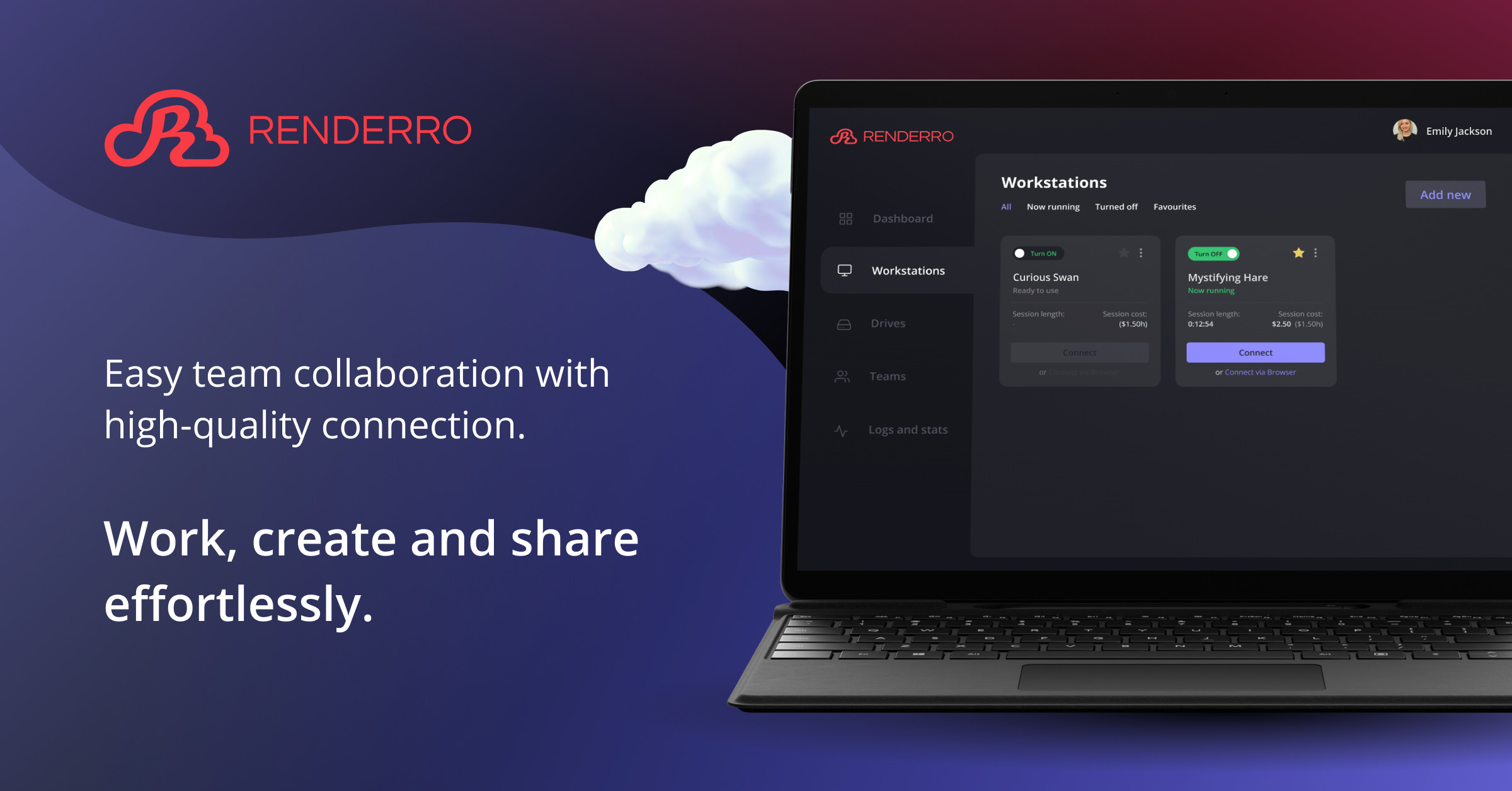 Renderro - powerful cloud computer for your post-production and creative tasks 10