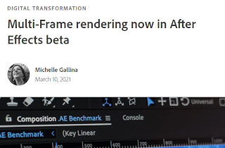 After Effects & Performance. Part 18: Multi-Frame Rendering is here 5