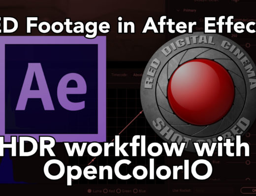 Using RED files in HDR After Effects Projects 4