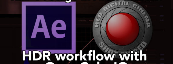 Using RED files in HDR After Effects Projects 2