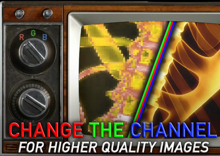 Improving image quality by changing channels 2
