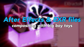 Using EXRs and DWA in After Effects 5