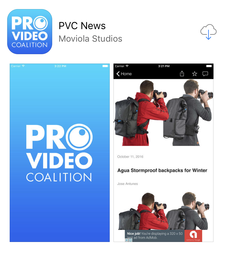 Introducing the ProVideo Coalition PVC News iOS app