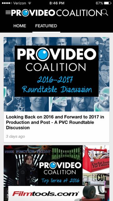Introducing the ProVideo Coalition PVC News app for iOS and Android 18