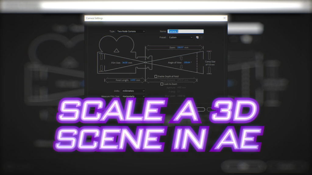 How to scale a 3D scene in After Effects 1