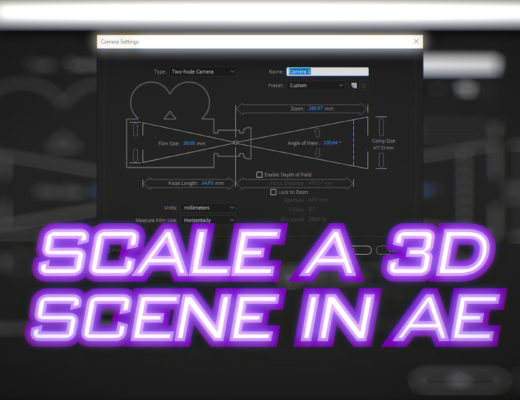 How to scale a 3D scene in After Effects 9