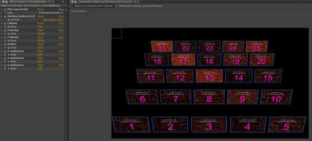 Automatic grid layouts in After Effects 9