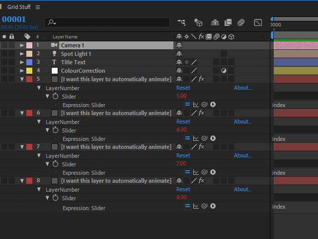 Automatic grid layouts in After Effects 5