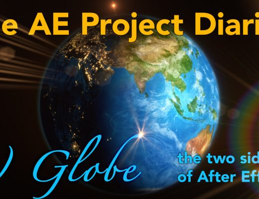 AE Project Diary: 7) Globe animation 13