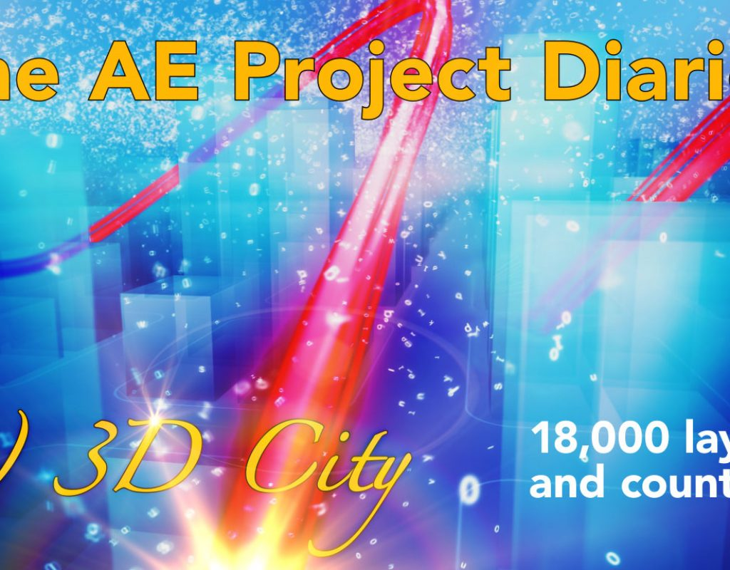 AE Project Diary: 8) 3D City 1