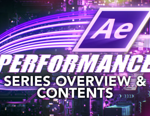 After Effects & Performance. Series Overview & Contents 34