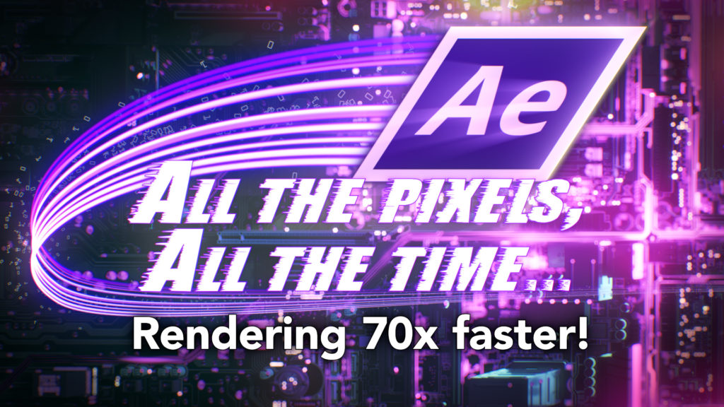 After Effects: Making a composition render 70 x faster 1