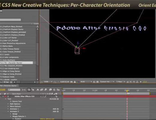 Per-character 3D in After Effects